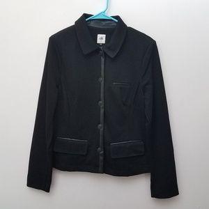 Cabi Tudor Jacket Blazer with Faux Leather Trim So